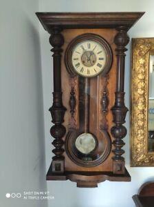 Victorian Wall Clock Antique Junghans German Keyhole mechanism
