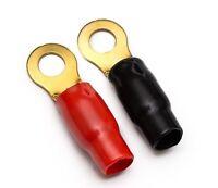 4 GAUGE RING TERMINALS PAIR RED BLACK 4 AWG 2 terminals