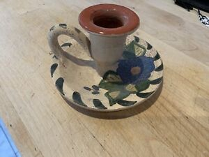 Traditional Style Handle Candlestick Holder Handmade In Portugal