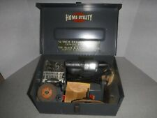 """Nice Vintage Home - Utility Electric Tools 1/4"""" Drill With Box - Manual - Stand"""