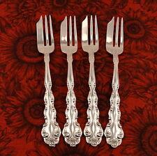 BEETHOVEN Set 4 Pie Dessert Forks by Oneida Community 1971 Vintage Silver Plate