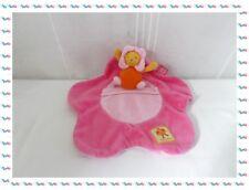 A - Doudou Semi Plat Fleur Bébé Abeille Louna Rose Lit  Moulin Roty