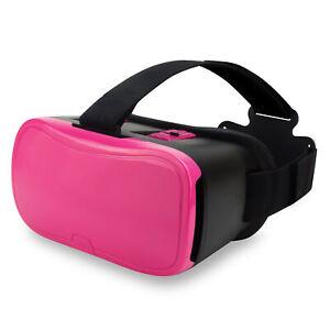 Onn Virtual Reality Smartphone Headset, W/Adjustable Lenses, Nylon Strap, Pink