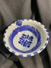 Vintage Signed Studio Pottery Bowl with Scarab Beetle