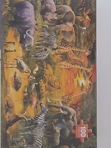 African Harmony 100 Pc Jigsaw Puzzle - White Mountain Puzzles FAST FREE SHIP