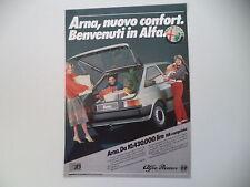 advertising Pubblicità 1985 ALFA ROMEO ARNA