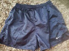 Vintage Nike Navy Blue Shorts White Swoosh Men's Size XL Drawstring