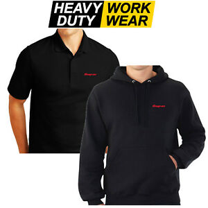 SNAP ON RED LOGO EMBROIDERED WORK HOODIE / POLO SHIRT WORK WEAR POWER TOOL