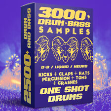 3000+ Drum & Bass One Shot Drum Samples Wav / Drumstep / Neurofunk / Jungle