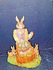 COTTONTAIL TRAILS EASTER BUNNY..HANDCRAFTED FIGURINE