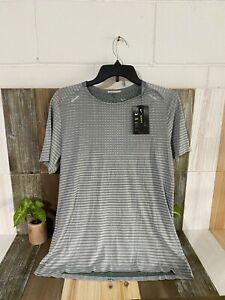 NEW Nike TechKnit Ultra Mens Running Grey Light Shirt. CJ5344-084 Size Medium