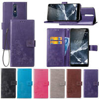 For Nokia 6(6.1) 2018 Wallet Flip PU Premium Leather Card Slots Stand Case Cover