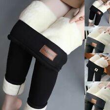 Hot Super Thick Cashmere Wool Leggings Pants High Waist Winter Warm Pants Top