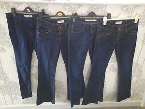 X4 Pairs Of Ladies Blue Jeans bundle W28 TOPSHOP
