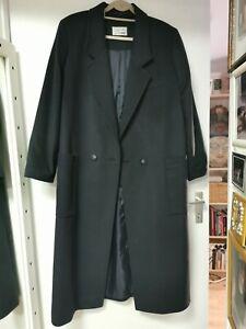 Eleganter Kaschmir maxi Mantel (91%Kaschmir 9%Seide) Schwarz Gr. 44 von Styled