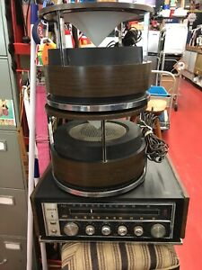 MCM ZENITH CIRCLE SOUND STEREO OMNI-DIRECTIONAL SPEAKERS and Receiver Untested!!