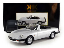 KK SCALE MODELS 1986 Alfa Romeo Spider 3 Serie 2 with Softtop Silver 1/18 LE500