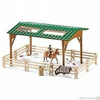 *NEW* SCHLEICH 42189 Riding Arena with Shelter, Fencing, Jumps, Horse and Rider