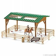 SCHLEICH 42189 Riding Arena with Shelter, Fencing, Jumps, Horse and Rider