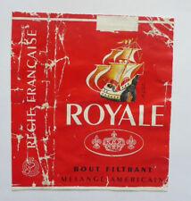 Old Vintage French Cigarette - Tobacco Packet Label. Royale