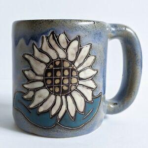 Mara Sunflower Flowers Flower Pottery Mug Mexico Large Coffee Tea Cup Heavy
