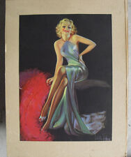 Vintage 1930s Art Deco Print Laurette Patten Charming Blonde Woman Matted
