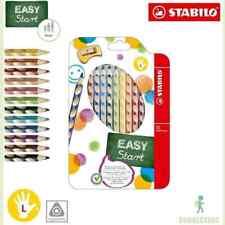 Stabilo EASYcolors LINKSHÄNDER 12er Pack mit Spitzer dreikant Buntstifte NEU OVP