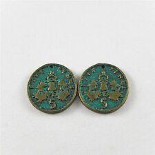 40pcs 51728 Retro Bronze Coins Shaped Alloy DIY Bracelet Pendant Accessory Craft
