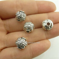 18696 15pcs Fashion Antique Silver Alloy 9mm Spacer Beads for Charms Bracelet