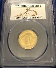 2016 W PCGS SP 70 Centennial Gold Coin 1/4 OZ Standing Liberty Quarter FIRST STR