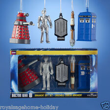 DW3141 Dr. Who Box Set Dalek Tardis Logo Cyberman Sonic Screwdriver Ornament BBC