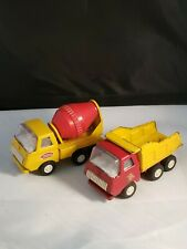 Vintage 1970's Tonka Cement Mixer And Dump Trucks Pressed Steel Toys Lot 2