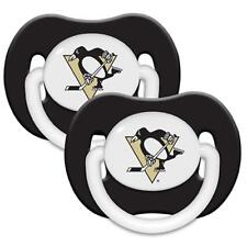 Pittsburgh Penguins Pacifier 2 Pack Set Infant Baby Fanatic BPA Free Orthodontic