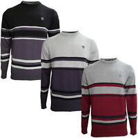 Mens Jumper Dissident New Casual Knitted Pull Over Crew Neck Warm Winter Sweater