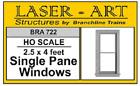 "Branchline # 722  Windows - Laser-Art Single-Pane, 30 x 48"" pkg(6) HO MIB"