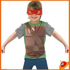Costume Carnevale Ragazzo Bambino Maglietta Tartarughe Ninja Tg 5-7