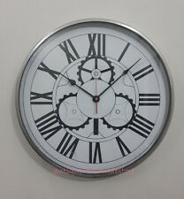Vintage Nautical Full Chrome Big Wall Clock Home & Office Decor