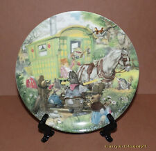 WEDGWOOD * Wind In The Willows Collectors Plate * Gypsy Caravan * Eric Kincaid *