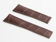 Crocodile-style Marrone Cinturino per adattarsi TAG HEUER GRAND CARRERA - 22/18 mm