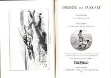 COURSING & FALCONRY COX & LASCELLES GREYHOUND HAWKING 1986 REPRINT