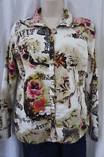 Onque Casuals Sweater Sz S Multi Color Driftwood Tan Long Sleeve Casual Jacket