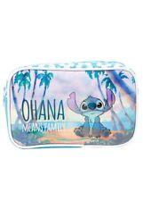 Disney Lilo & Stitch Beach Ohana Cosmetic Make-Up Tote Bag Purse New With Tags!
