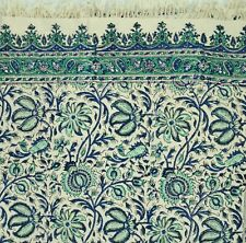"""Traditional Hand Block Printed Tablecloth, Rectangle 53x78"""", 100% Organic Cotton"""