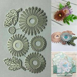 Flowers Metal Cutting Dies Stencil Scrapbooking Embossing Daisy Album Craft Card