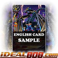 Buddyfight x 4 Black Crest Dragon, Double Snake [X-BT02/0094EN C] English Mint F