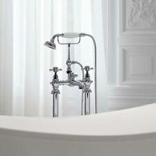 KANO TRADITIONAL FREESTANDING BATH FILLER AND SHOWER MIXER WITH HANDHELD