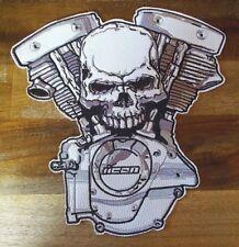 Patch Espalda Parche Biker Hábito - Moto Skull - Super Tamaño & Óptica