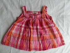 H&M Girls Pink Checked Sleeveless Spring Summer Top Size 4-5 Years