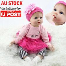 22' Beautiful Lifelike Newborn Baby Realistic Vinyl Reborn Girl Doll Floppy Head