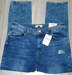 NEW Womens🦋DOROTHY PERKINS🦋mid wash stretch relaxed slim denim jeans size 18R